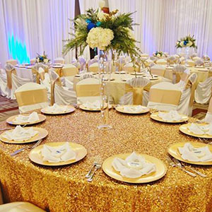 White Table, Linen and Chair Cover Rentals